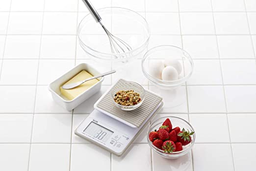 Tanita washable digital cooking scale 3kg (up to 0.1g units / 300g) white KW-320-WH by Tanita: Amazon.es: Hogar