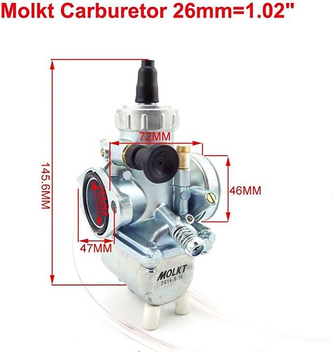 Stoneder Molkt 26 Mm Vergaser Vergaser 45 Mm Luftfilter Set Für 140 Cc 150 Cc 160 Cc Pit Dirt Bike Ssr Thumpstar Auto