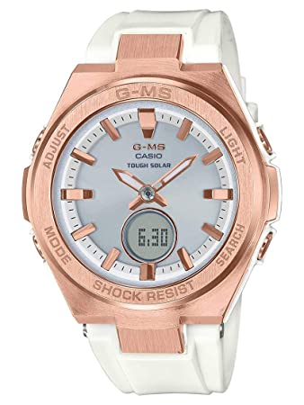 32f4a49faa998 Amazon.com  Ladies  Casio Baby-G G-MS White and Rose-Tone Watch ...