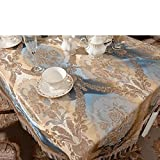 Elegant cotton tablecloth macrame ink painting table covers-A 150x180cm(59x71inch)