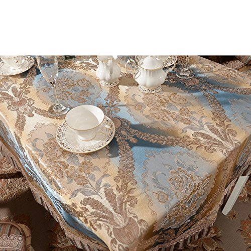 Elegant cotton tablecloth macrame ink painting table covers-A 150x180cm(59x71inch) by Ren&Yang
