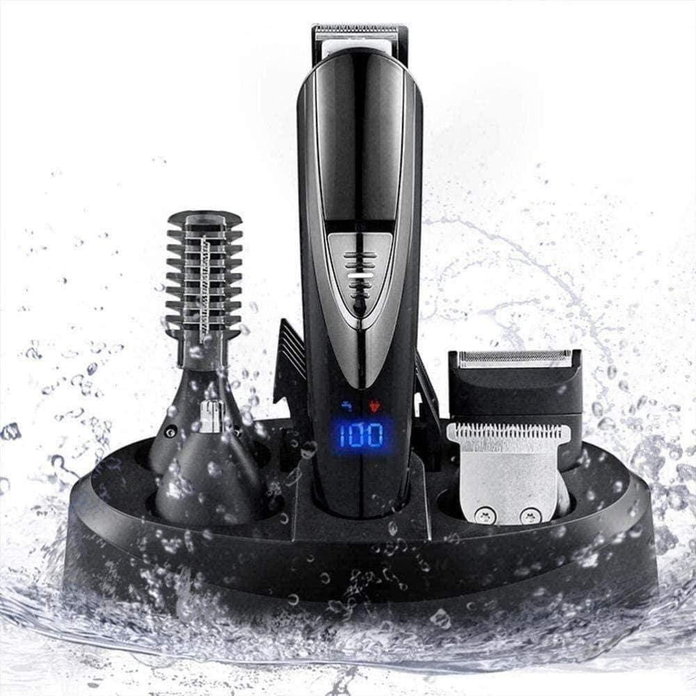 Clipper pelo tijeras de peluquero profesional Barba Tijeras máquinas de afeitar eléctricas Fader Uso Personal recargable de afeitar máquina de talla de precisión multi-funcionales paquetes de belleza