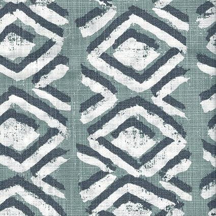 Close to Custom Linens Close To Custom Linens Tailored Bedskirt Sapo Waterbury Geometric Spa Green Slub Cotton 18 Full