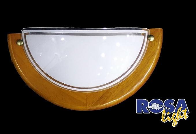 Applique da parete per interni in vetro e legno amazon