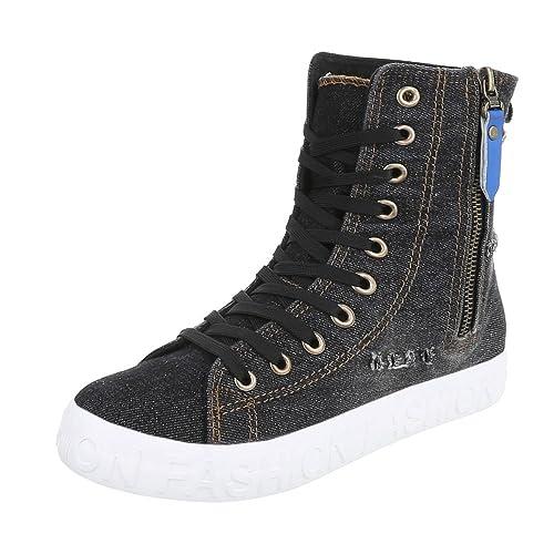 Ital-Design - Zapatillas altas Mujer , color negro, talla 38