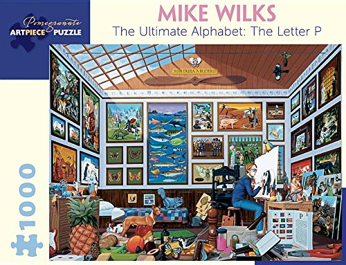 Pomegranate Communications Inc,US Mike Wilks The Ultimate Alphabet The Letter P 1000-Piece Jigsaw Puzzle