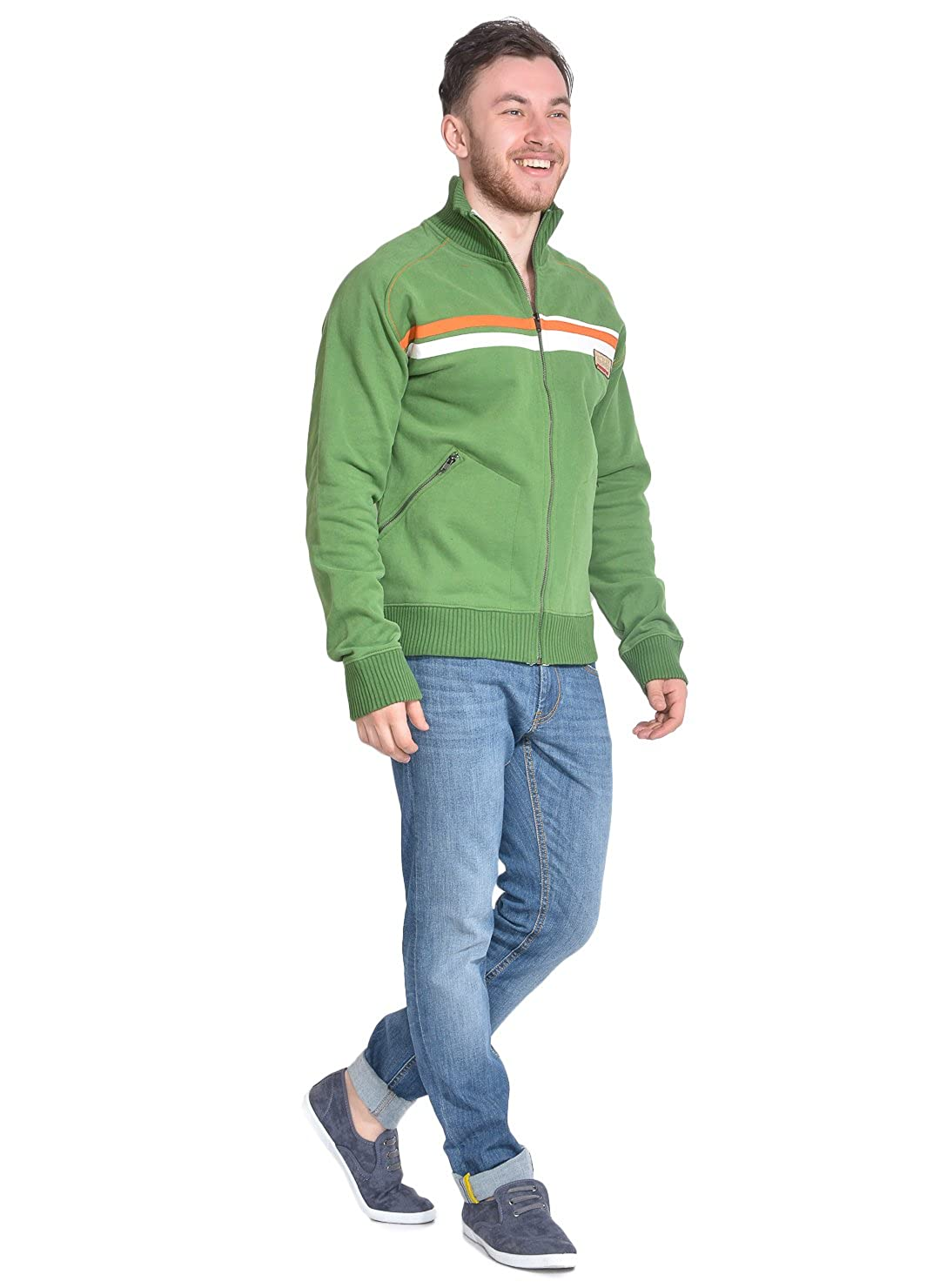 Homme Vert Green Manches Longues Von Dutch Sweat-Shirt