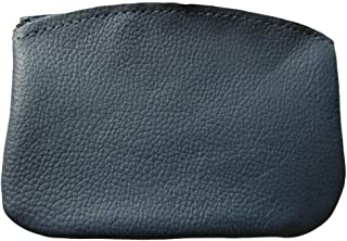 product image for North Star Men's Large Leather Zippered Coin Pouch Change Holder 5 X 3.5 X 0.25 Inches Navy