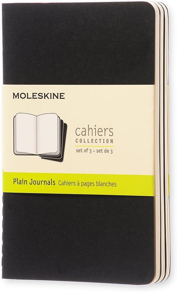 Moleskine QP313 - Pack de 3 cuadernos, pocket 9 x 14, negro