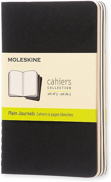 Moleskine QP313 - Pack de 3 cuadernos, pocket 9 x 14, negro: Moleskine: Amazon.es: Oficina y papelería