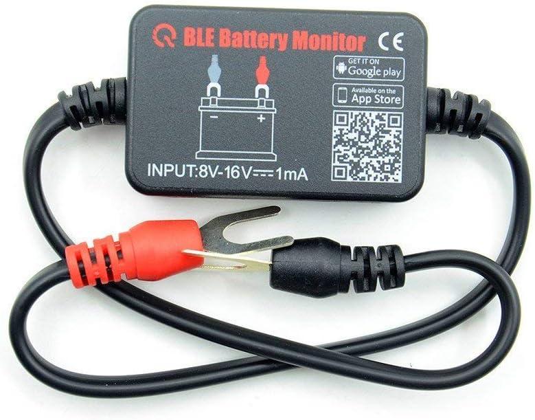 inal/ámbrico libre aplicaci/ón m/óvil en tiempo real comprobador de voltaje de la bater/ía motor de coche 12 V Monitor de bater/ía Bluetooth para coche