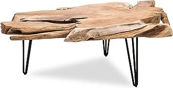 Amazon Com Edloe Finch Modern Solid Wood Live Edge Coffee Table