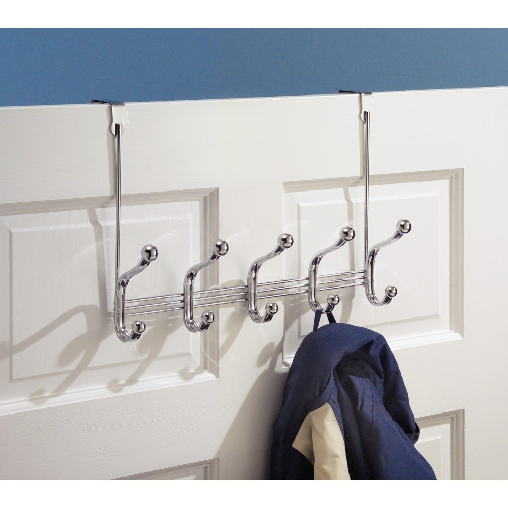 Over the door organizer 5 hooks hanger clothing hat towels for Bedroom nothing lasts chords