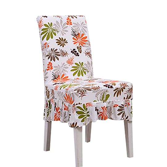Elastic Short Chair Covers 2 Pcs Fit Stretch Seat Cloth Dining Chair  Slipcovers