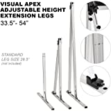 Visual Apex Projector Screens Adjustable Height Extension Stand Legs - One Pair for ALL ProjectoScreen Sizes 100HD - 144HD