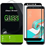 [2-Pack] Dmax Armor for Asus ZenFone 5Q [Tempered Glass] Screen Protector, (Full Screen Coverage) With Lifetime Replacement Warranty (Black)