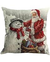 Caso di Cuscino di Natale,Kword Babbo Natale Lenzuola Stampate Federe Tintura Divano Letto Home Decor Cuscino