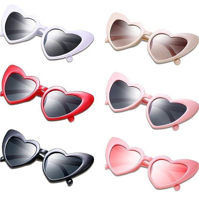 Amazon.com: Gafas de sol con forma de corazón vintage, para ...