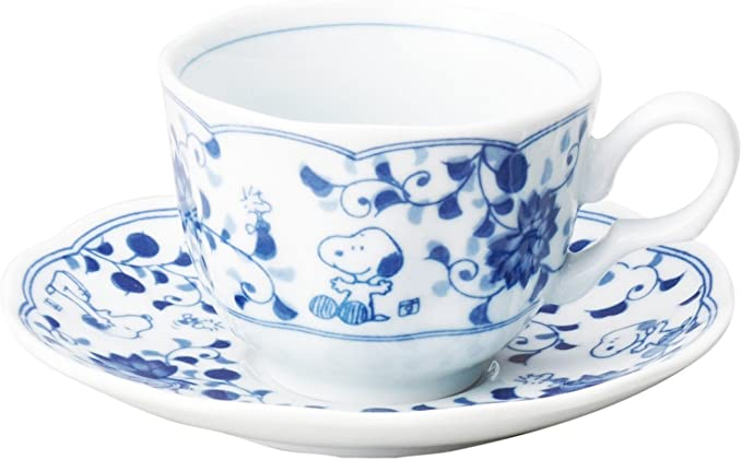 Snoopy ceramic tea cup set Japanese pattern a Pair Cup set Pottery made in Japan