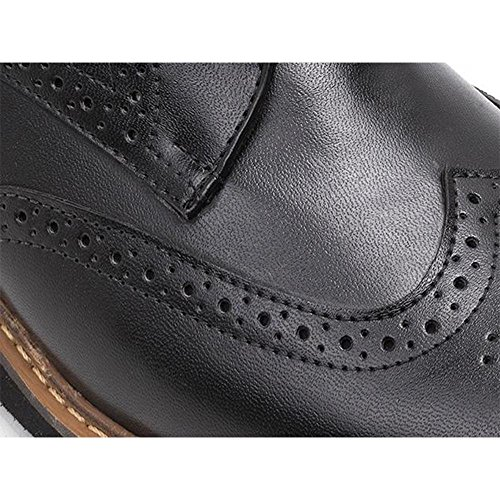 Ahimsa Mens Vegan William Wingtip Zwart