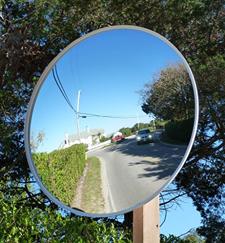 Convex Traffic Mirrors - Safety Traffic Mirrors,Outdoor Universal Security Convex Mirror,Include Mounting Bracket