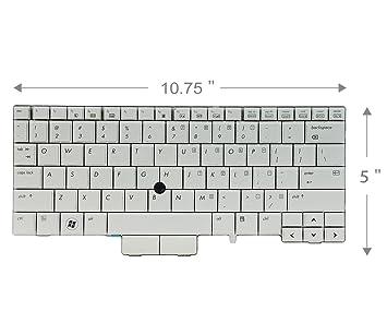 Nuevo teclado para ordenador portátil para HP EliteBook 2760p P/N: 597841 - 001 V108630as1 mp-09b63us6442 90.4dp07.c01 US Layout color gris: Amazon.es: ...