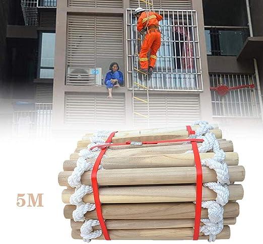 BAODANF - Escalera de emergencia para refugio y escalera multiusos para adultos huida de ventanas y balcón, 5 m.: Amazon.es: Jardín