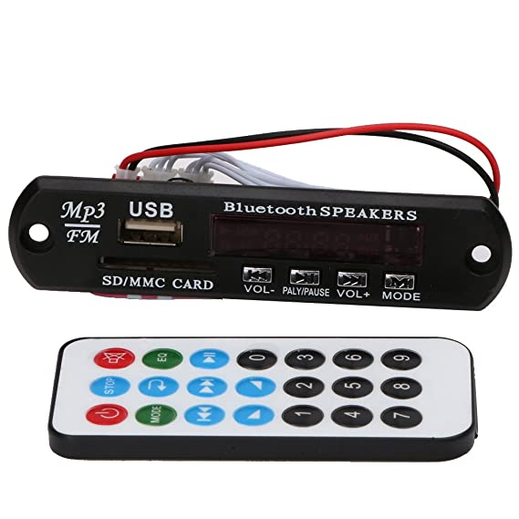 Módulo de reproductor de audio Bluetooth USB SD TF FM MP3 WMA Decodificador Junta Altavoz de control remoto