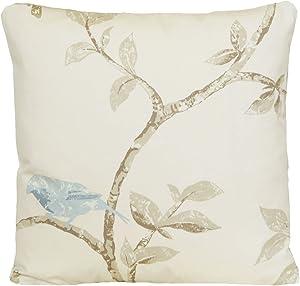 Blue Bird Throw Pillow Case Tree Branch Cushion Cover Nina Campbell Fabric Bird Cage Walk
