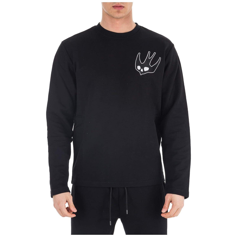 ec455488 Amazon.com: McQ Alexander McQueen Men Sweatshirt Swallow Darkest Black S:  Clothing