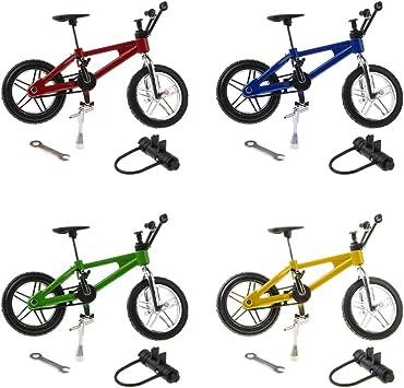 4 Piezas 1:24 Bicicleta de Montaña de Dedo Juguetes en Miniatura ...