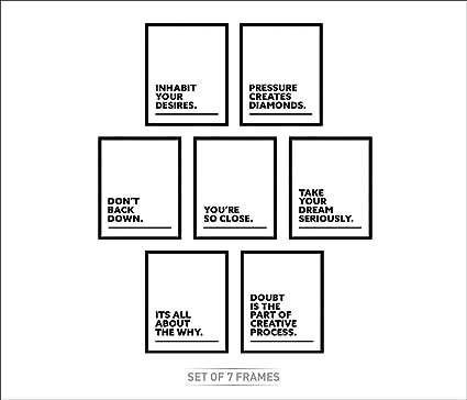 Amazon.com: LAB NO 4 Set of Seven Short Motivational Quotes ...