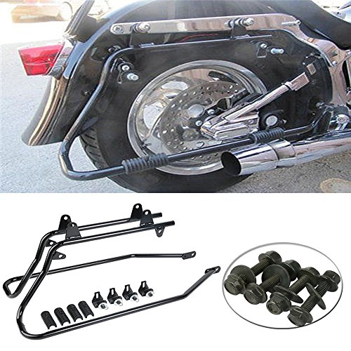 - XMT-MOTO Saddlebag Saddle bag Conversion Brackets For Harley Heritage Softail 1986-2013
