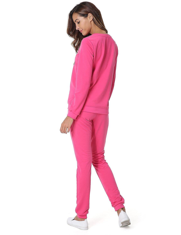 c400c77a04 Hownew-X Damen Schlafanzüge mit Sterne Muster Elegant Pyjama Oberteile und Hose  Set Jogginganzug Tracksuit Set: Amazon.de: Bekleidung