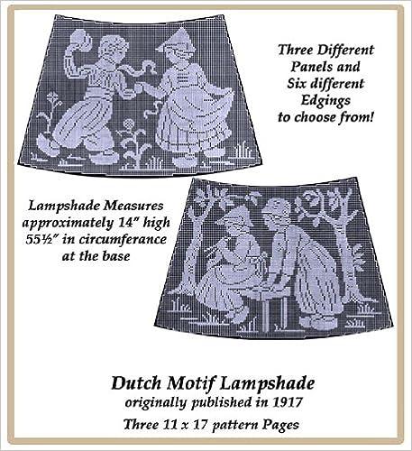 1917 Filet Lace Chart Pack - Dutch Design Lampshade Panels