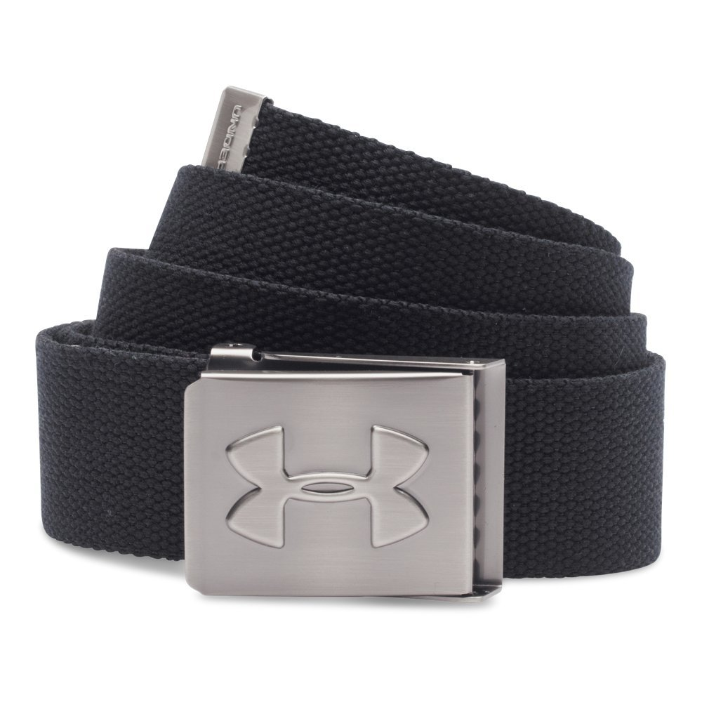 Under Armour Men's Webbed Belt, Black /Graphite, One Size by Under Armour