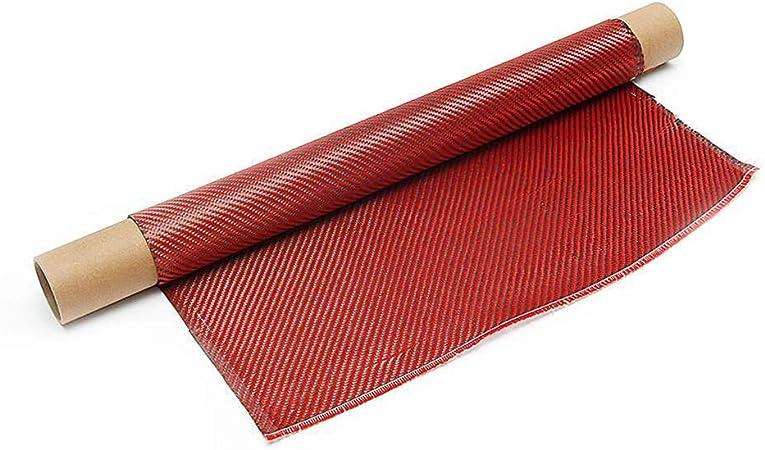 500 mm breit und 1000 mm lang SOFIALXC 3k Kohlefaser-Stofftuch Twill-Gewebe Rot Schwarz