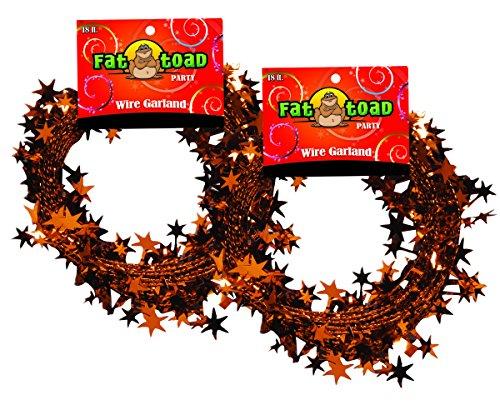 Garland Stars Orange 18 Foot 2 Pack, Fat -