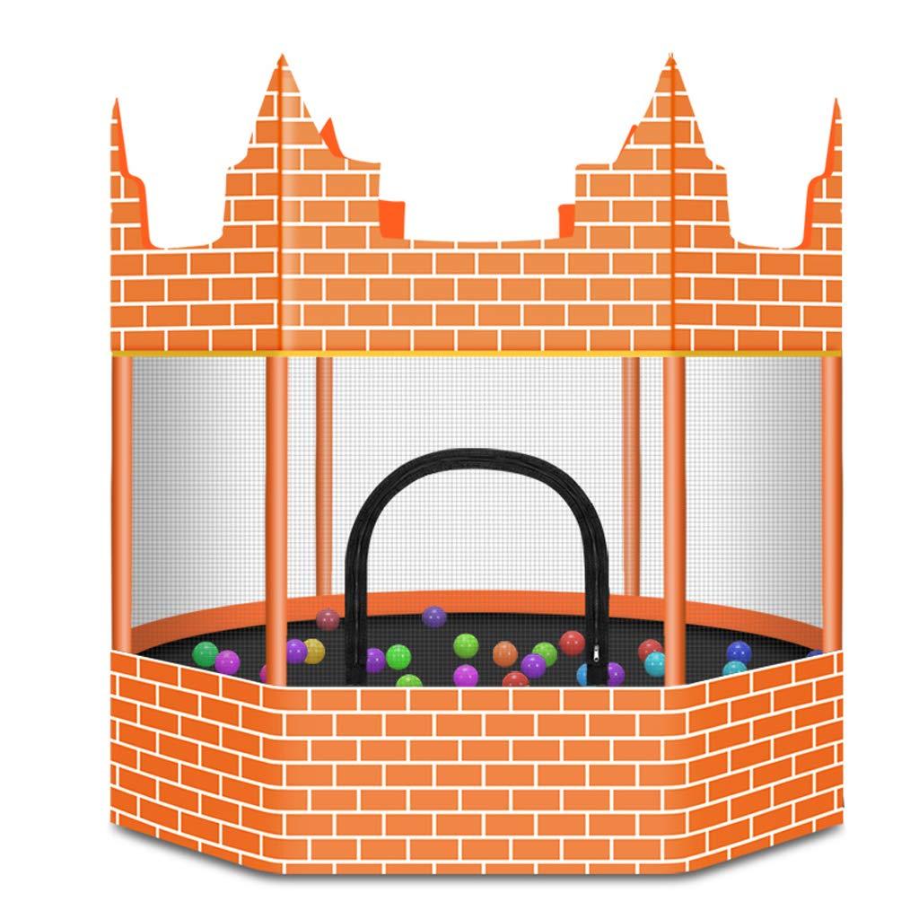 Unbekannt Lxn 60 Zoll Outdoor & Indoor Runde Schloss Trampolin mit Gehäuse net