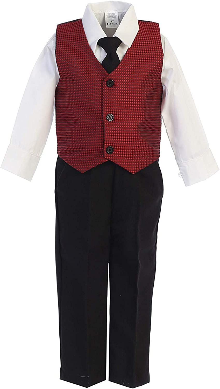 iGirldress Little Boys Red Black Christmas Vest Pants//Knicker Set Infant to Boys