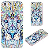 VoMoTec iPhone SE Case,iPhone 5S Case,iPhone 5 Case, [Cute Series] Anti-Scratch Slim Flexible Soft TPU Protective Skin Cover Case for iPhone 5 5S SE,Totem Tattoo Head of The Lion
