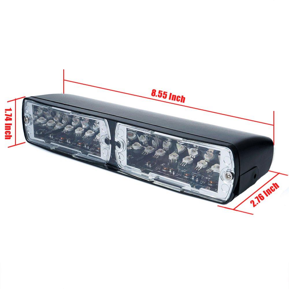 RGB 12/LED LED de alta intensidad aplicaci/ón de la ley emergencia advertencia de peligro estrobosc/ópica luces para interior techo//salpicadero//parabrisas con ventosa