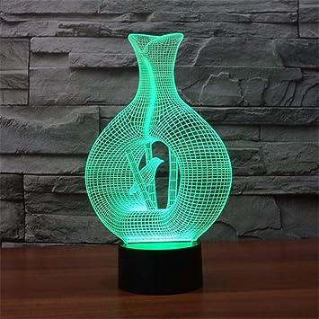 XingYao 3D Led Lámpara de Luz Nocturna Sensor Diferentes ...