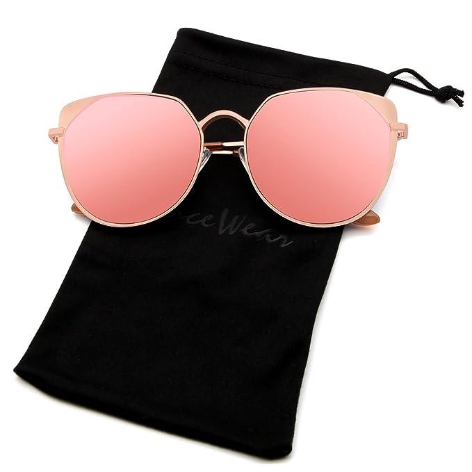 Amazon.com: facewear ojo de gato anteojos de sol de gran ...