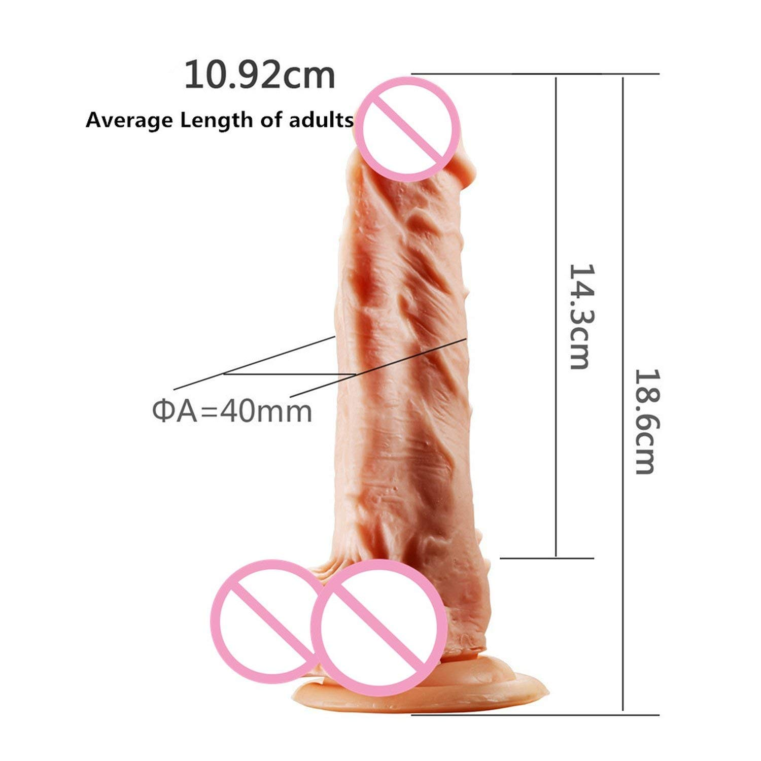 SA Tshirt Heating Vibrator Big P-Enis Rotating Anal R-ealistic Suction Cup for Women,Heating,185mmx38mm TDT by Splendid Artists (Image #6)