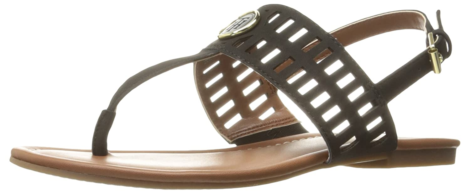 Tommy Hilfiger Women's Smith Flat Sandal B01M3SL6GO 8.5 B(M) US|Black