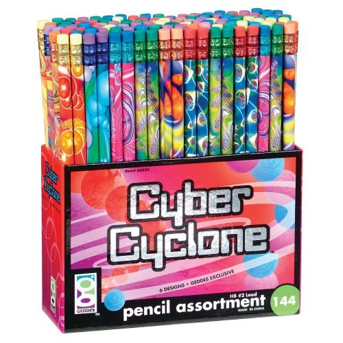 Geddes Cyber Cyclone Pencil Assortment - Set of 144 (Fоur Paсk, Cyber Cyclone Pencil Assortment) by Raymond Geddes (Image #1)
