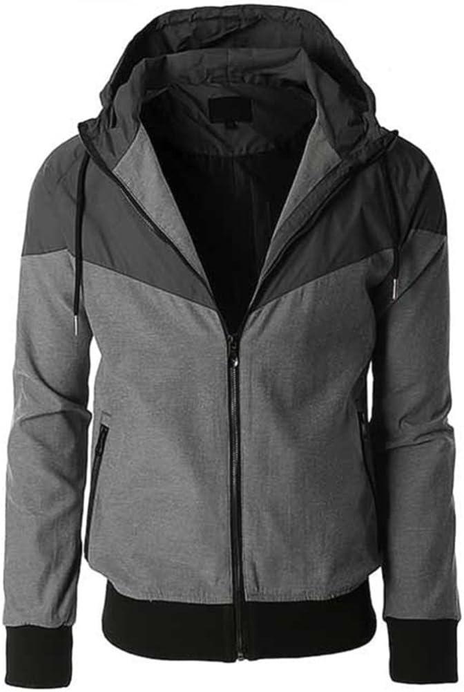 FactionNY Mens Zip up Wind Breaker Hooded Jacket Hoodie Hip Hop Urban Wear Fitted Nylon