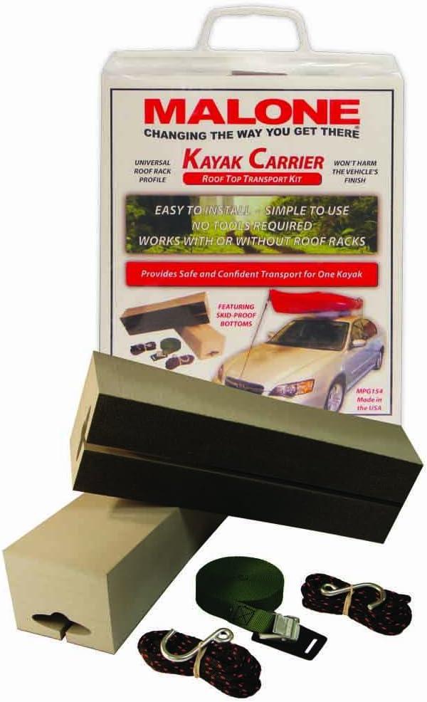 Malone Standard Foam Block Universal Car Top Kayak Carrier Kit