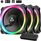 Antec Prizm 120 ARGB 120mm Addressable RGB Case Fan- 3 Pack and 2 RGB Strips